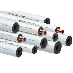 Μόνωση Εύκαμπτη Λευκή TC ISOPIPE 2μ μήκος & πάχος 9mm  Με Προστασία SOLAR