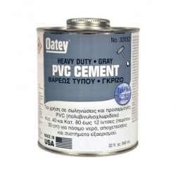 Κόλλα Σωλήνων PVC 237ml Βαρέως Τύπου Γκρι της Oatey